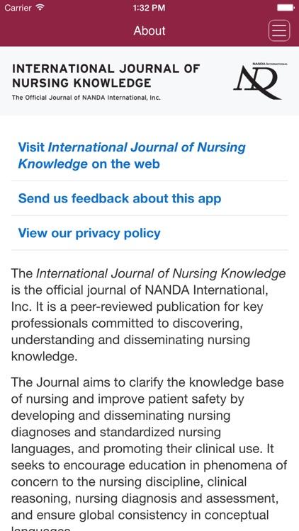 International Journal of Nursing Knowledge screenshot-4