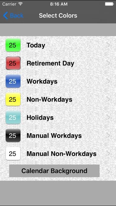 Retirement Countdown Ad Free review screenshots