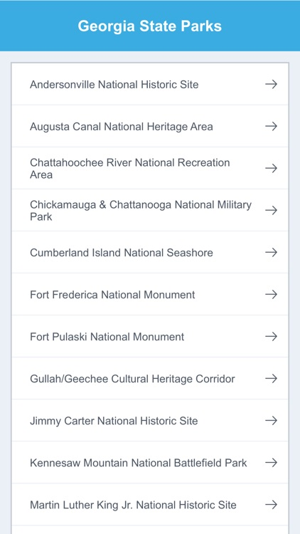 Georgia State Parks & National Parks screenshot-1