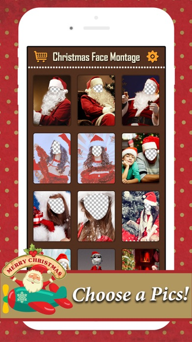 Xmas Face Montage Effects - Change Yr Face with Dozens of Elf & Santa Claus Looks screenshot three