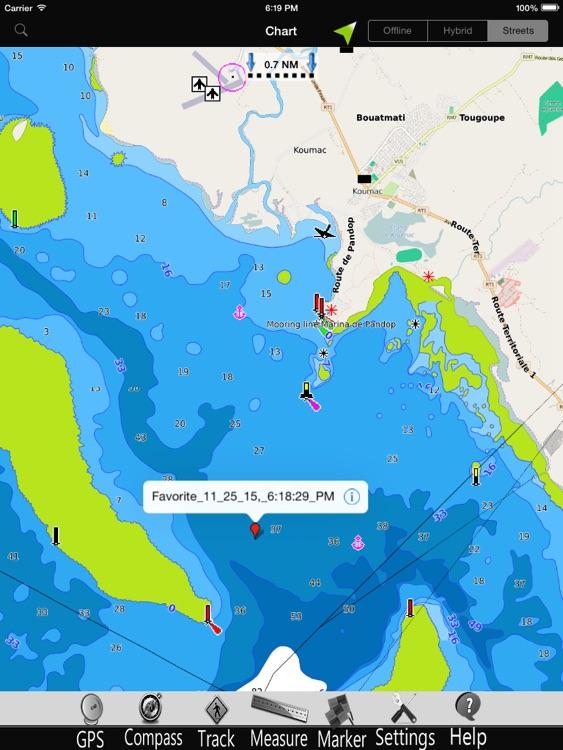 New Caledonia GPS Charts Pro screenshot-3