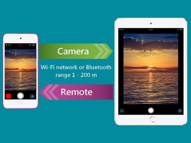 Remote Camera and Selfie Monitor via Wi-Fi and Bluetooth