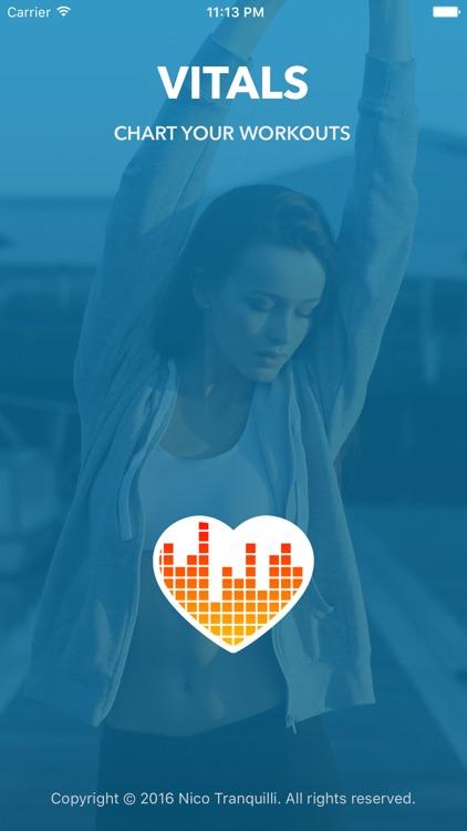 Vitals - chart your workouts screenshot-4