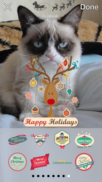 Now That's Christmas: Turn Your Photos Into Holiday Cards With 72 Stickers screenshot-4