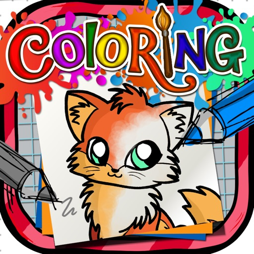 Coloring Book : Painting Pictures on Chi Chi Love Pets Cartoon for Pro