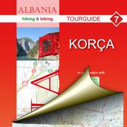 Korce. Tourist map.