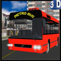 3D Metro Bus Simulator - Public transport service & trucker parking simulation game