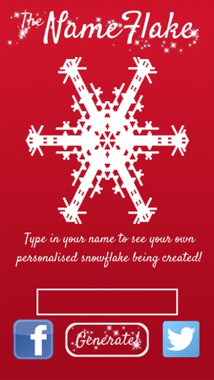 nameflake generate a snowflake from your name on the app store