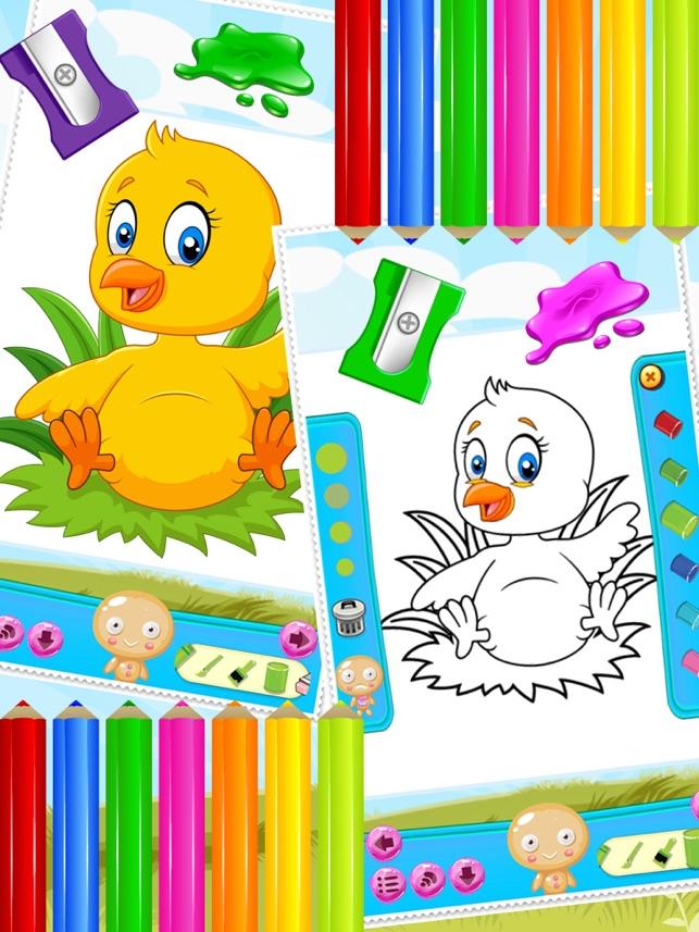 Kucuk Civciv Boyama Kitabi Cizim Ve Cocuklar Icin Art Studio Boya