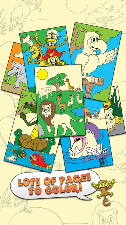 Coloring Animal Zoo Touch To Color Activity Coloring Book For Kids and Family Free Preschool Starter Edition
