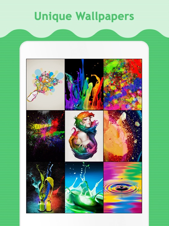 Color Splash Wallpapers for iPad