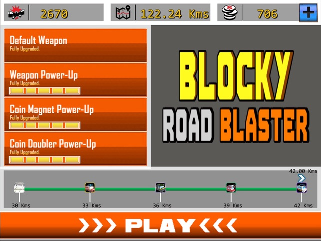 Blocky Road Blaster - 3D ( Fun Race & Shoot Game ), game for IOS