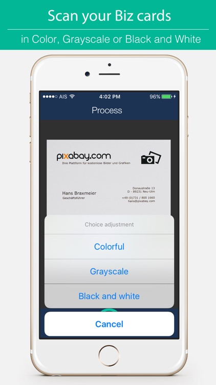 Biz Cards Scannable - Business Card Scanner Free & Receipt Organizer + OCR Scanning screenshot-4
