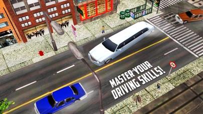 高級リムジンタクシーの都市車の駆動3Dのおすすめ画像5