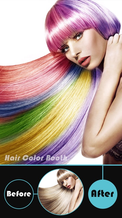 Hair Color Booth Pro - Change Hair Styles to Blonde, Brunette, Brown, Ginger or Any Color screenshot-0