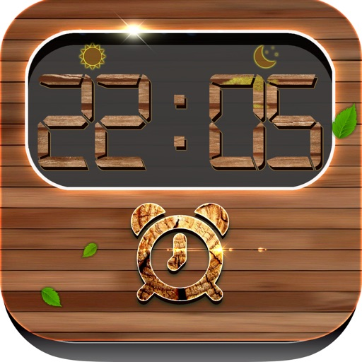 iClock – Wood : Alarm Clock Wallpapers , Frames and Quotes Maker For Pro