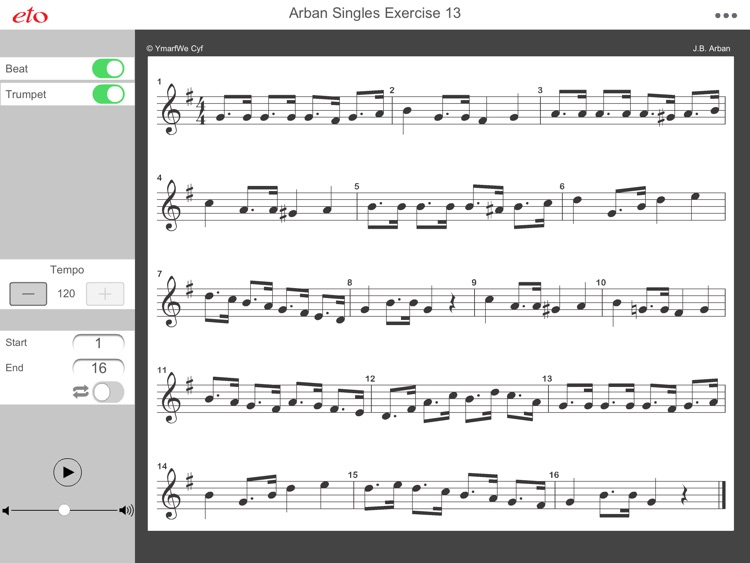 Arban Single Tonguing Ex. 13 - Advanced Trumpet & Cornet Practice