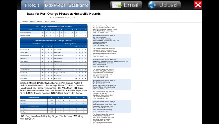 Fixed It! Baseball ScoreBook - Lite screenshot-3