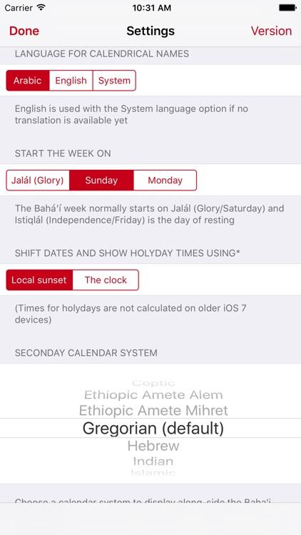 Bahá'í Calendar screenshot-3