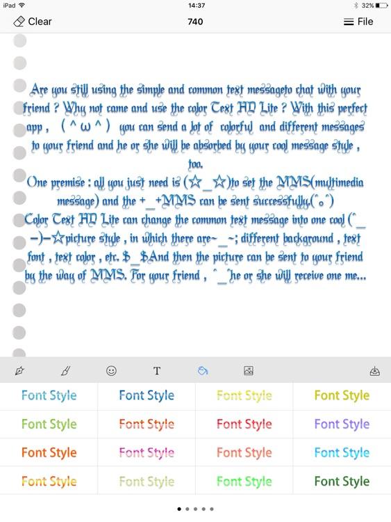 Color Text HD Lite