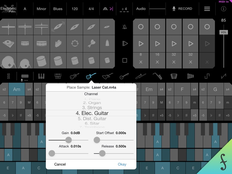 Firo - Music Maker, Instrument, Drums, Chords, Looper, and MIDI Controller screenshot-3