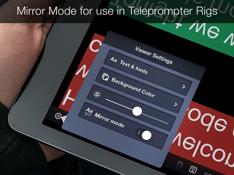 Teleprompter Pro - Scripts, Lyrics & Speech Mirror Prompter screenshot-2