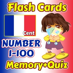 Flashcards and Games Of Number 1 - 100 French