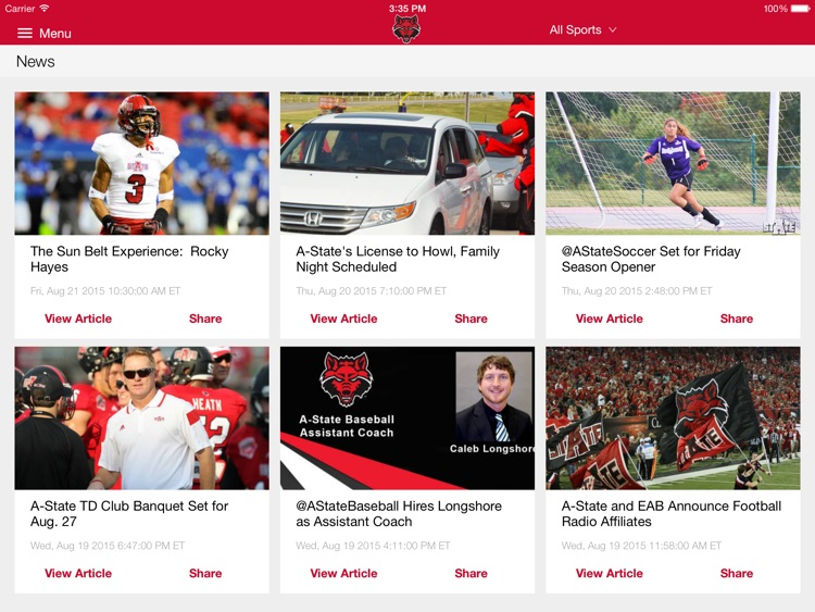 A-State Athletics for iPad screenshot-0