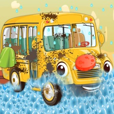 Activities of Kids School Bus Washing spa games