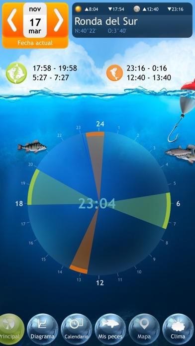 Screenshot for Pesca Deluxe – Mejores momentos para pescar y Calendario de Pesca in Peru App Store