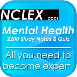 NCLEX Mental Health & psychology 2200 Notes & Quiz