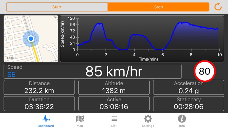 Speedometer Plus - Record distance, speed, acceleration and more...