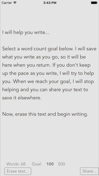 Unhelpful - The motivational writing app that tries to help instead of hurt