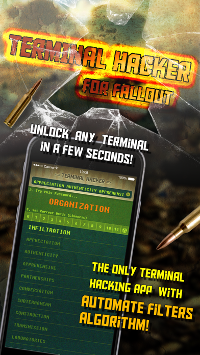 Terminal Hacker for Fallout 4 - Fast Unlock and Solve Codes screenshot one