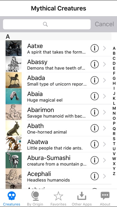 Mythical Creatures iPhone