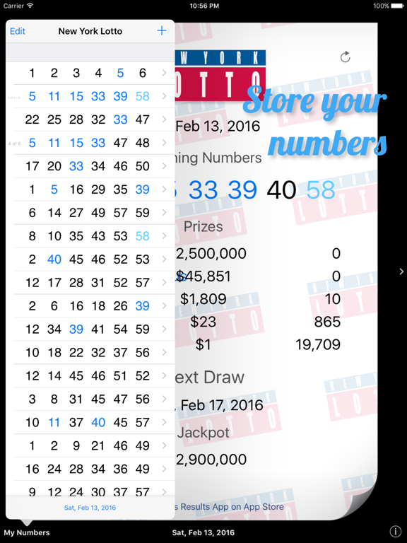 New York Lotto Results by Sam Tang (iOS, United Kingdom) - SearchMan