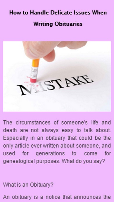 how to write a good obituary To write a great obituary, it's important to capture the spirit of the loved one who has passed compose a paragraph that describes not only what your loved one did , but also what your loved one was like.