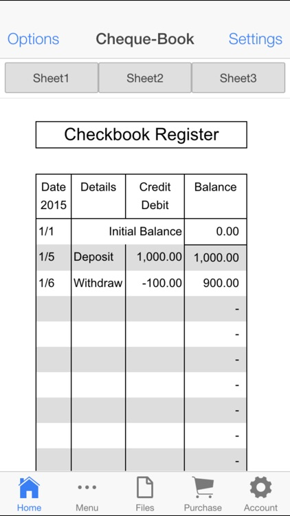 Check Book Register screenshot-2