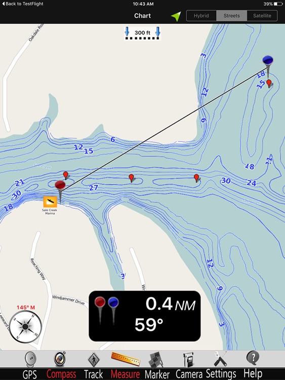 Chickamauga GPS Fishing charts Pro screenshot-1
