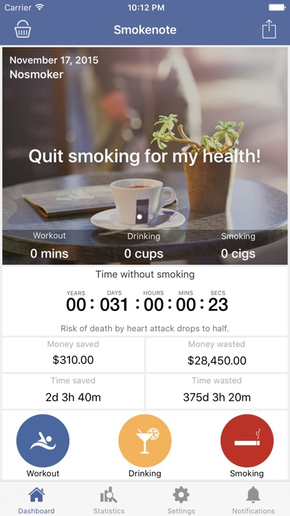 Smokenote - Quit Smoking
