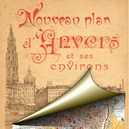 Antwerp. Historical map.