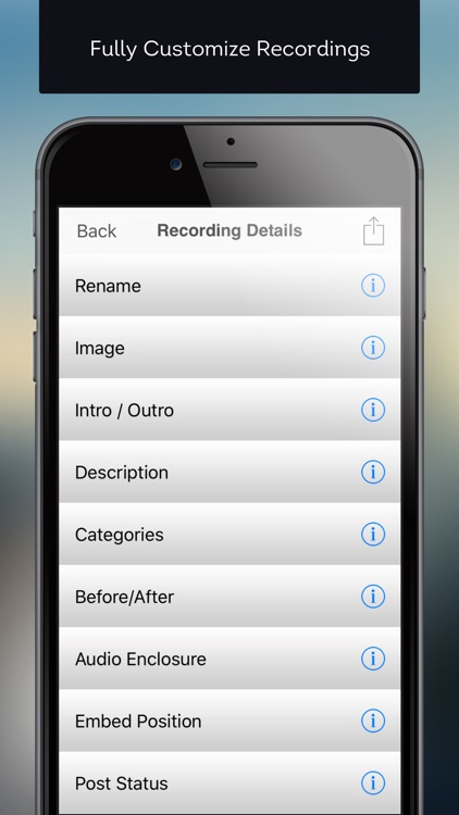 Mobile Podcaster - Record and Publish Your Podcast to WordPress, Libsyn and Dropbox screenshot-3