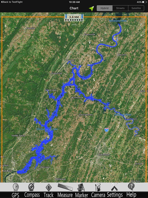 Chickamauga GPS Fishing charts Pro screenshot-4