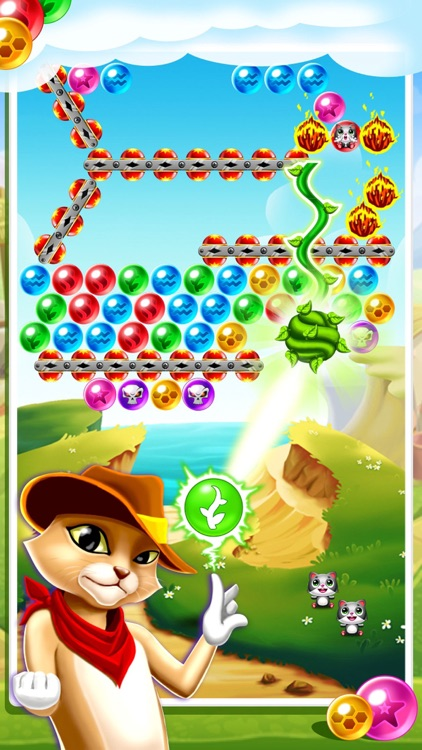 Witch Cat Pop - Addicting World Bubble Shooter Game Free 2016 screenshot-3
