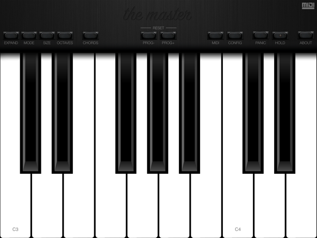 ‎The Master MIDI Keyboard Screenshot