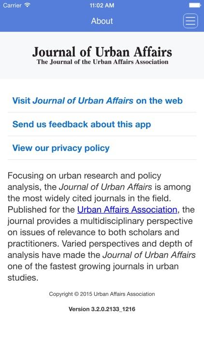 Journal of Urban Affairs