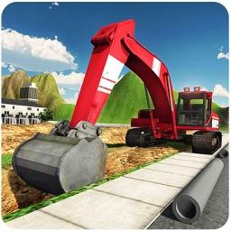 Heavy Excavator Crane Simulator 3D – A PRO construction truck driver challenge