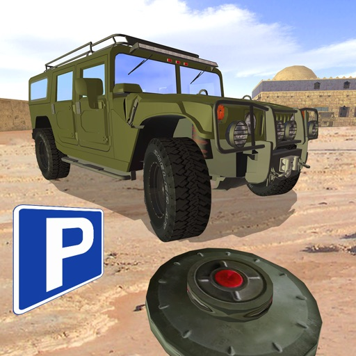 3D Land Mine Truck Parking - Real Army Mine-field Driving Simulator Game FREE icon
