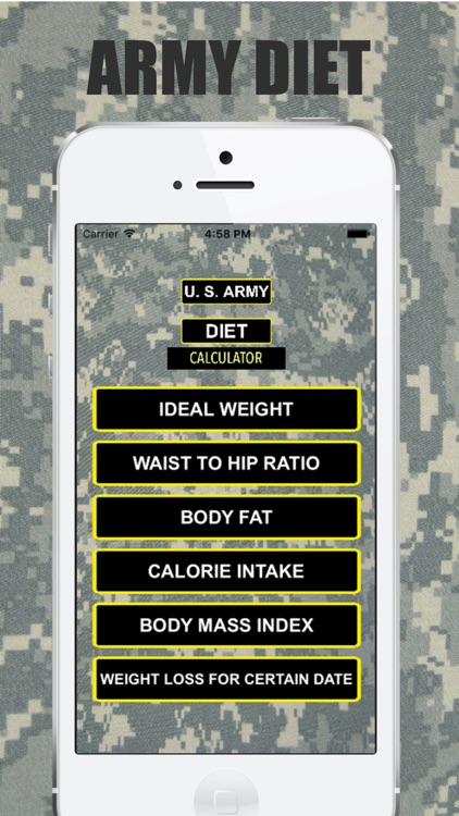 Army Diet Calculator