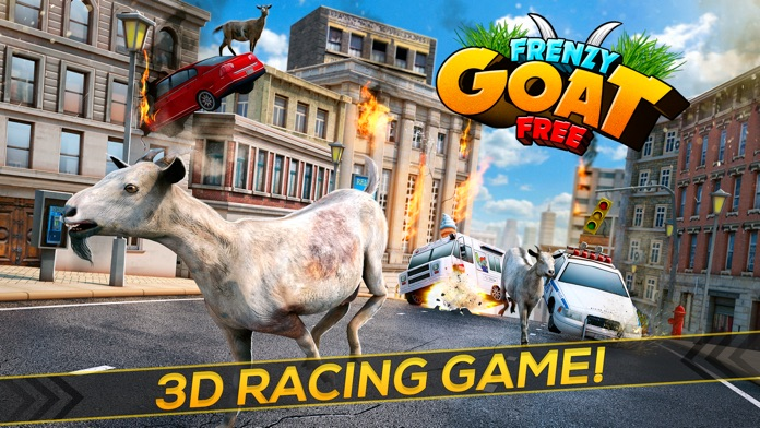 Frenzy Goat . Super Cool Mountain Simulator Game For Kids Free Screenshot
